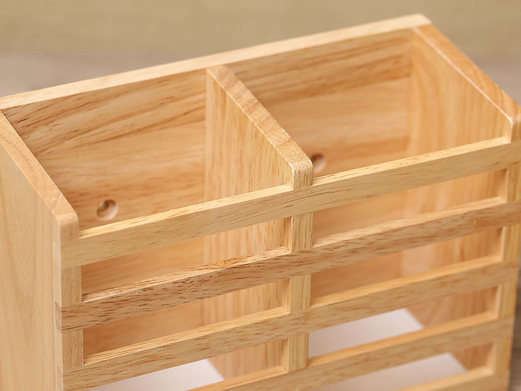 Ống đựng đũa đôi gỗ Bách hoá XANH ND852 4