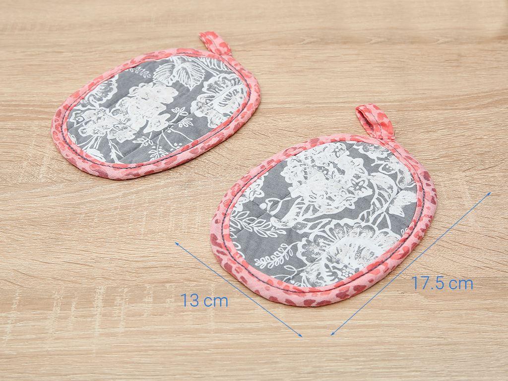Bộ nhấc nồi oval cotton Latka BN901 (Giao màu ngẫu nhiên) 5