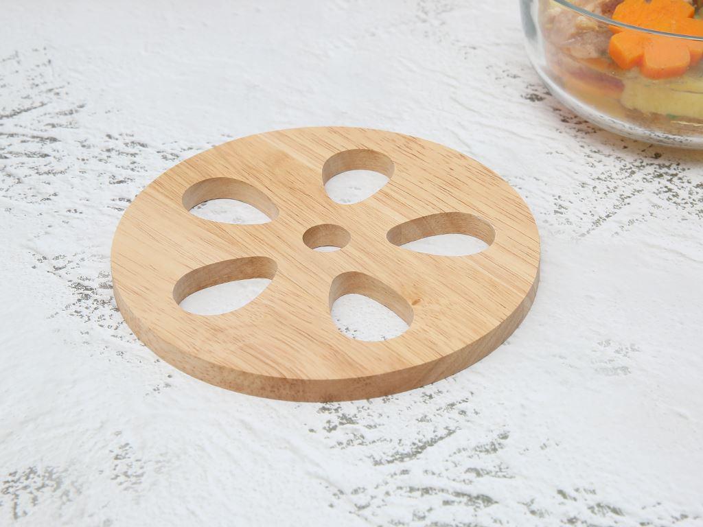 Lót nồi tròn hình hoa gỗ Điện Máy Xanh LN-DT01 2
