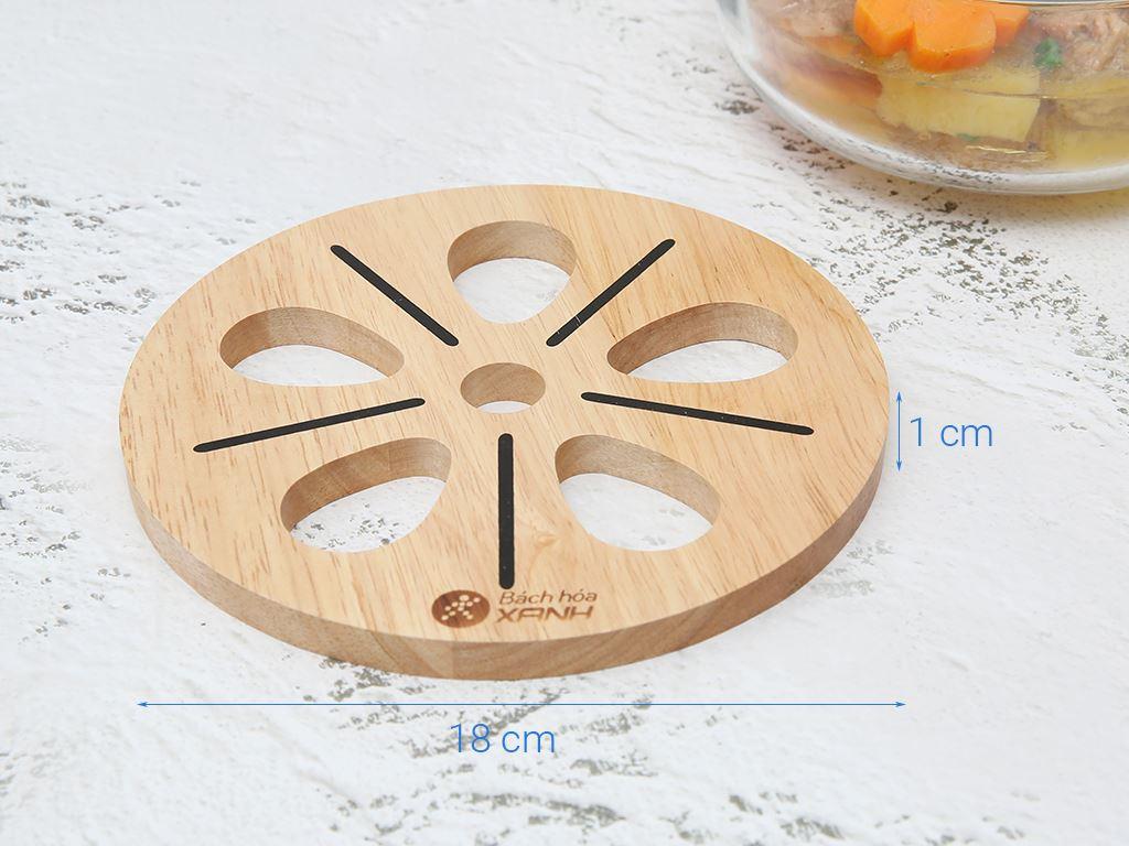 Lót nồi tròn hình hoa gỗ Điện Máy Xanh LN-DT01 4