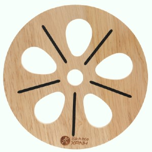 Lót nồi tròn hình hoa gỗ Điện Máy Xanh LN-DT01