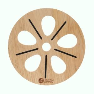 Lót nồi tròn hình hoa gỗ Bách Hóa Xanh LN-DT01
