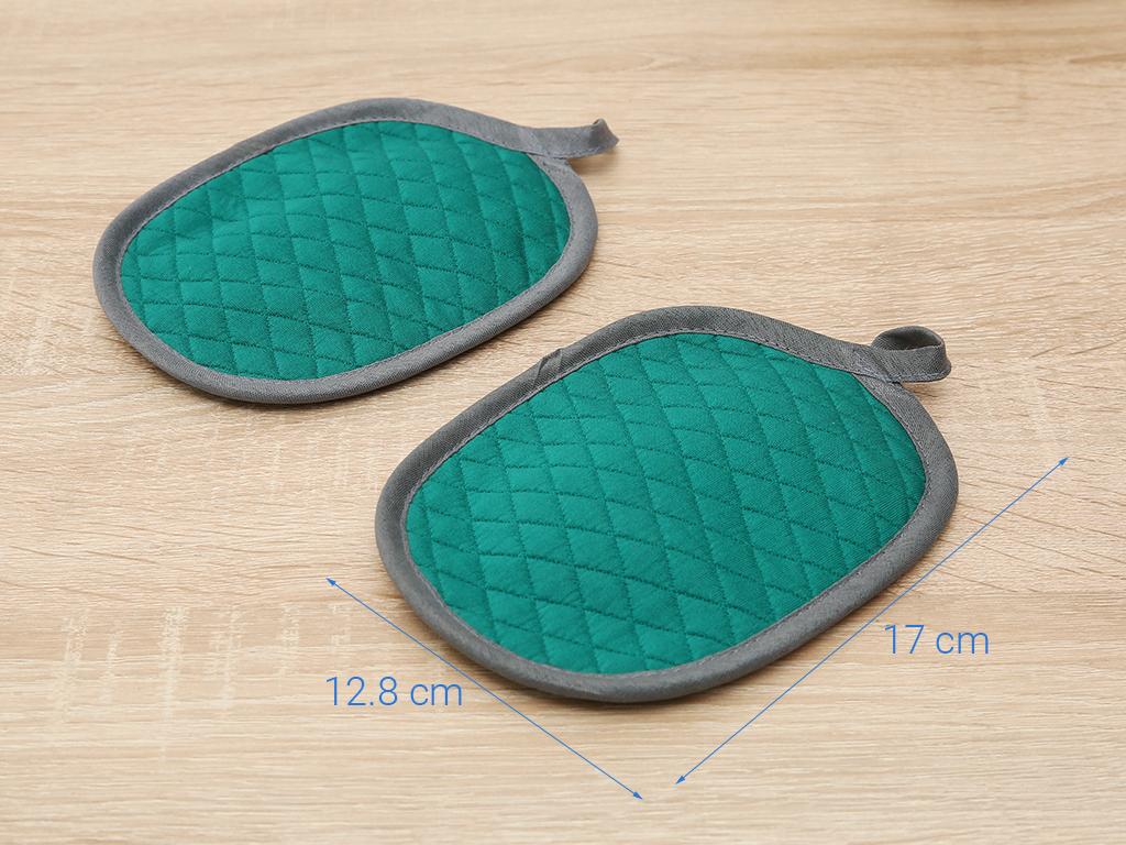 Bộ nhấc nồi oval cotton Vina Towel BB01 xanh jean 5