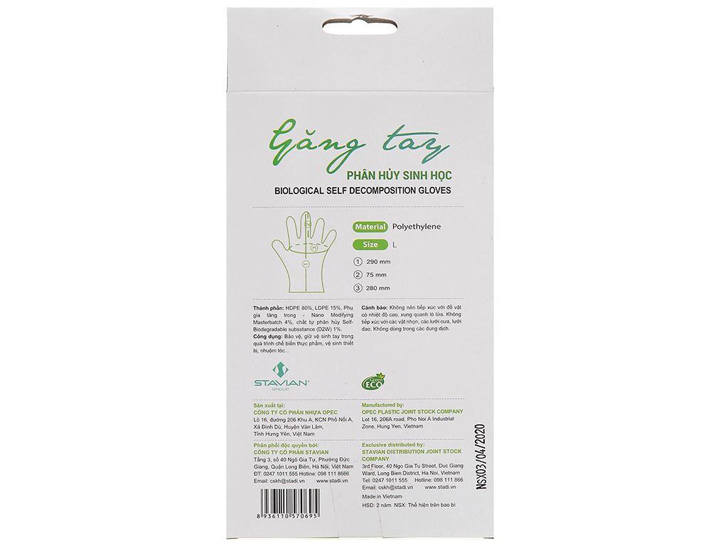 Găng tay nhựa tự hủy sinh học Green Eco Size L (100 cái) 2