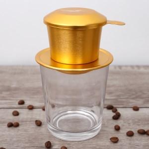 Phin cà phê nhôm Kim Hằng xi màu vàng KHG 8034