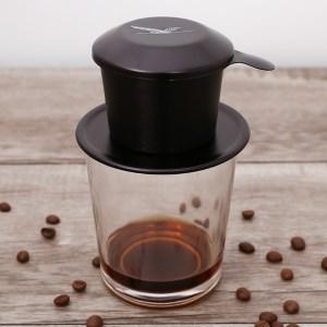 Phin cà phê nhôm Kim Hằng xi màu đen KHG 8036