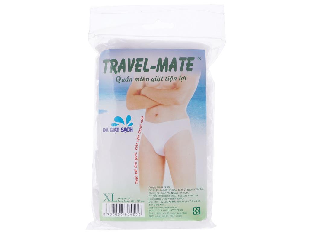 5 cái quần lót mặc một lần nam Travel-Mate size XL 1