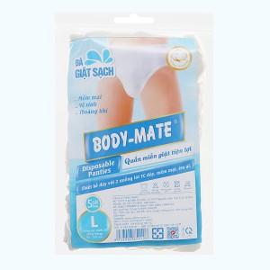 5 cái quần lót mặc một lần nam Body-Mate size L