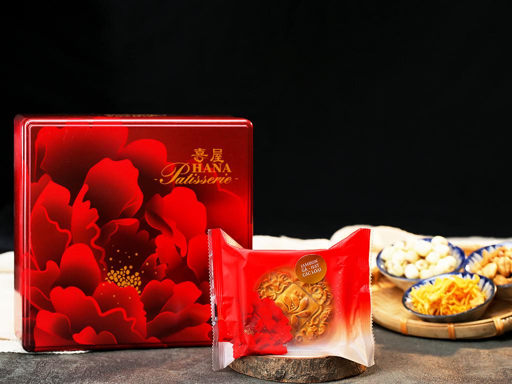 Bánh trung thu Malaysia Hana jambon gà và hạt các loại 150g 5