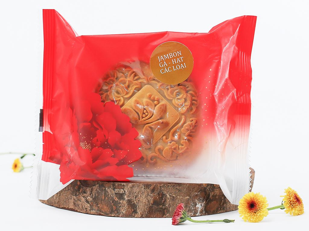 Bánh trung thu Malaysia Hana jambon gà và hạt các loại 150g 10