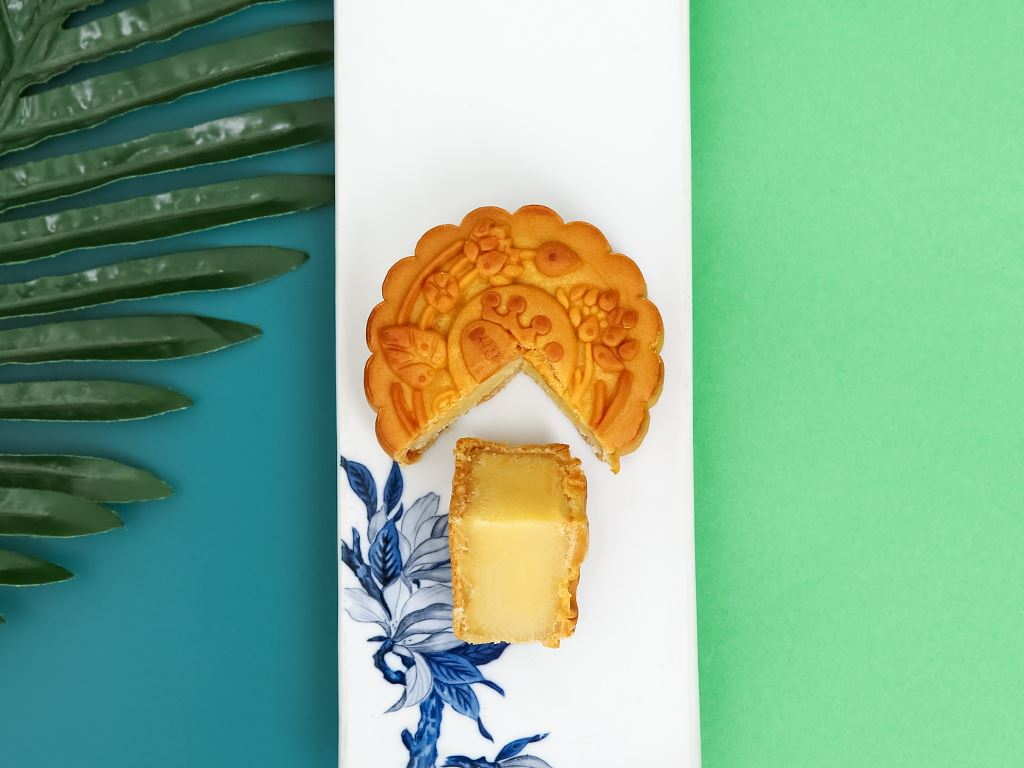 Bánh trung thu Kinh Đô đậu xanh hạnh nhân 150g 1