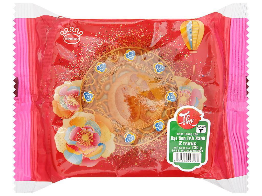 Bánh trung thu Kinh Đô hạt sen trà xanh 2 trứng 230g 5