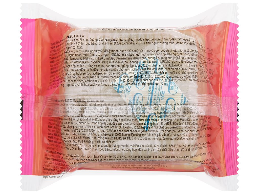 Bánh trung thu Kinh Đô hạt sen trà xanh 2 trứng 230g 6