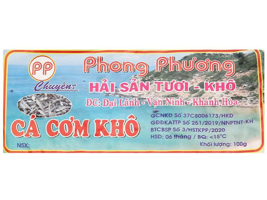 Khô cá cơm sữa Phong Phương gói 100g 2