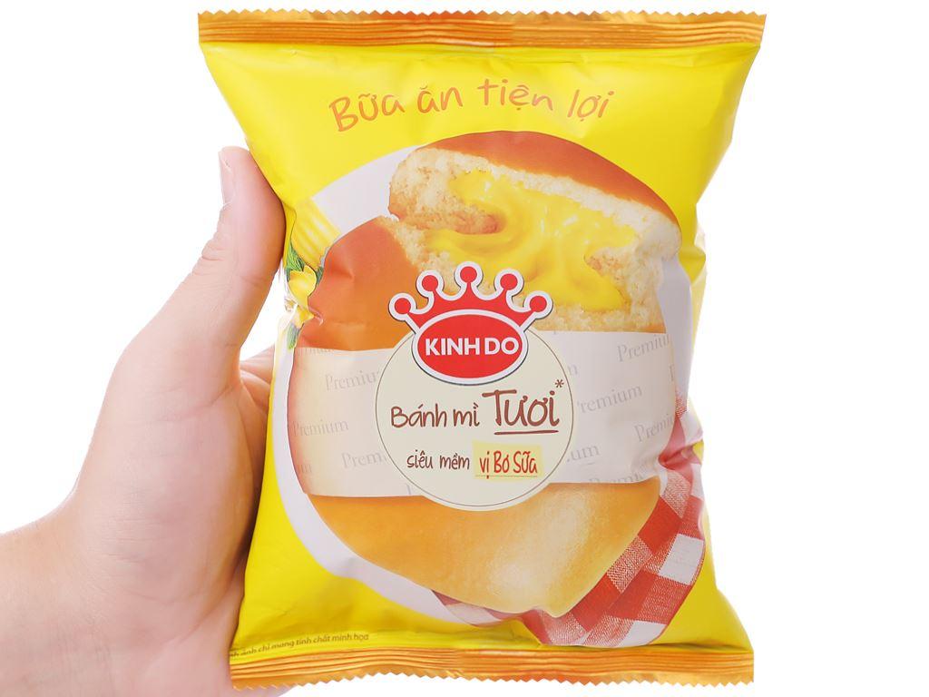Bánh mì tươi tròn vị bơ sữa Kinh Đô 55g 4