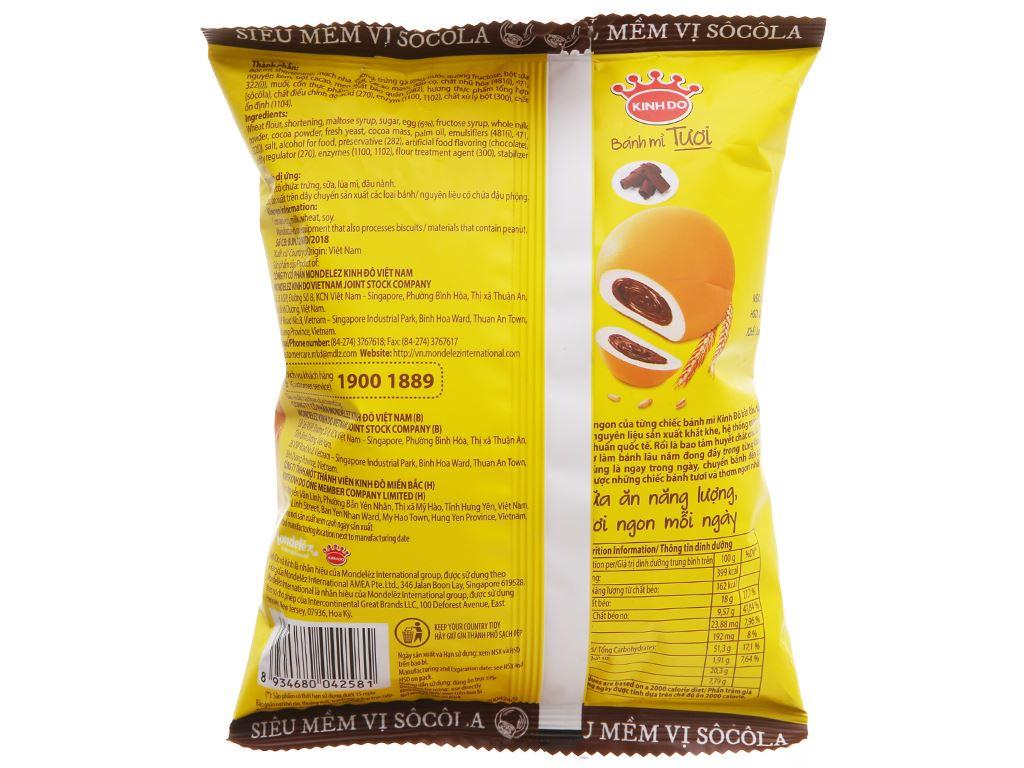 Bánh mì tươi tròn nhân socola Kinh Đô 55g 2