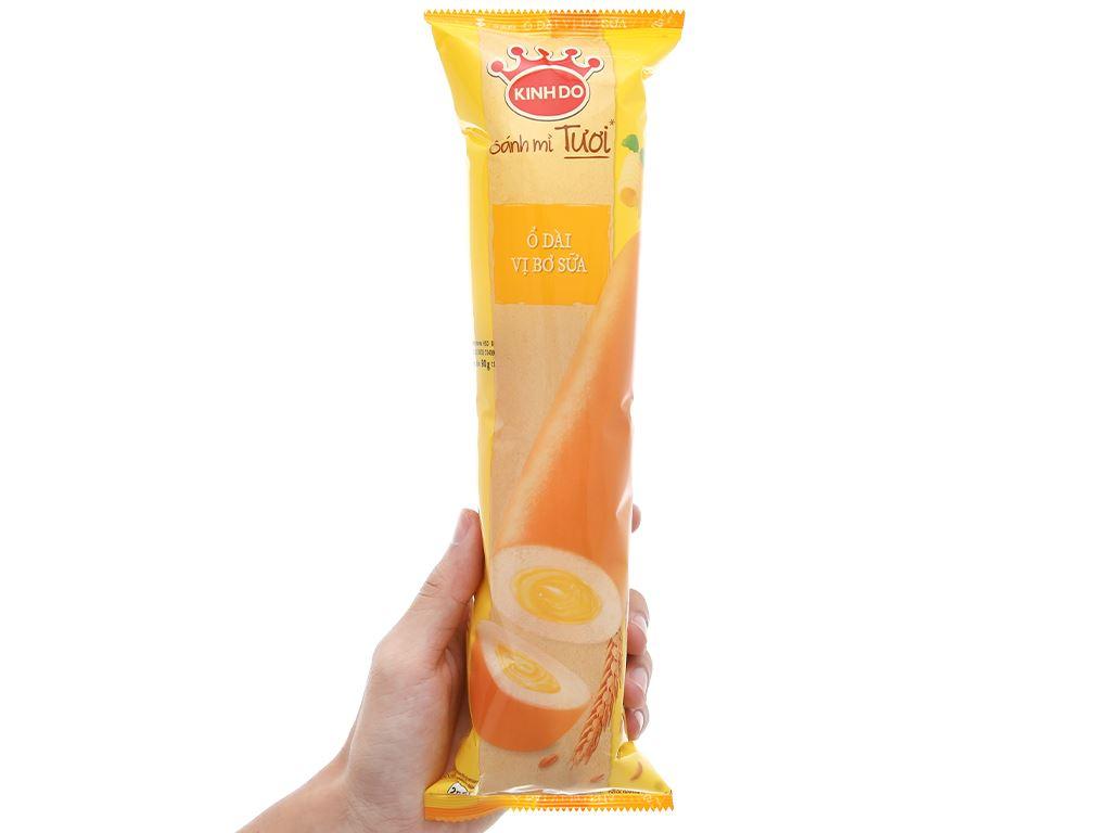 Bánh mì tươi ổ dài nhân bơ sữa Kinh Đô 90g 5