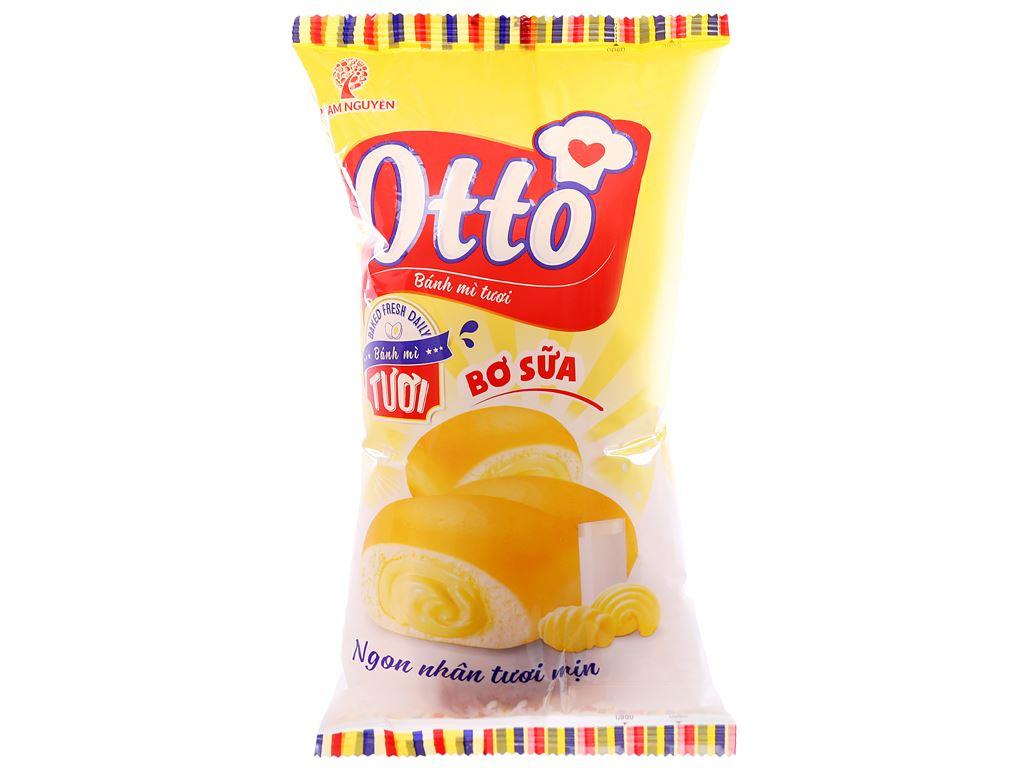 Bánh mì tươi nhân bơ sữa Otto gói 90g 1