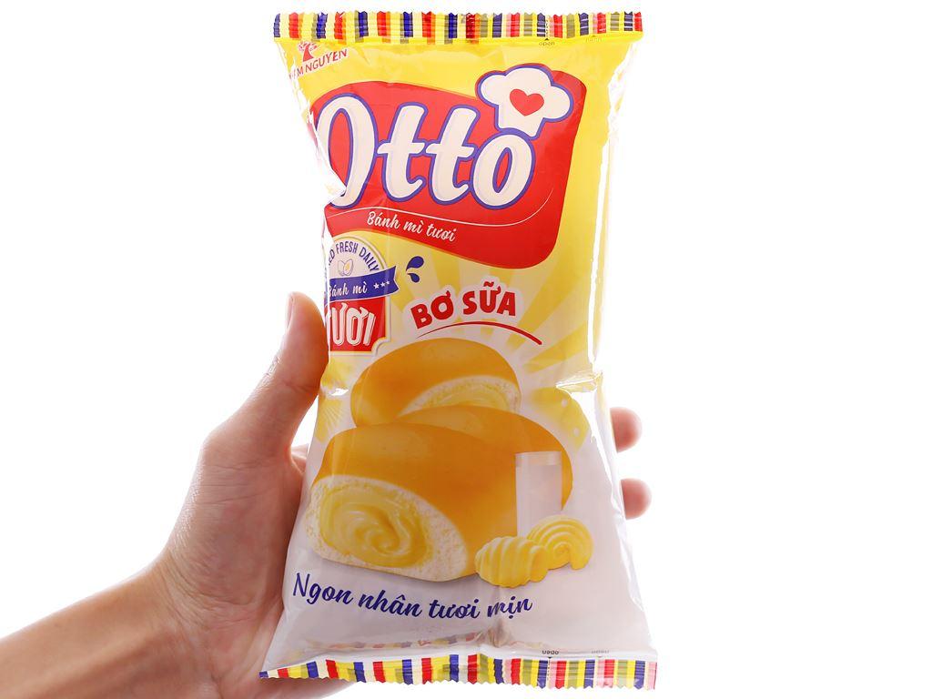 Bánh mì tươi nhân bơ sữa Otto gói 90g 3