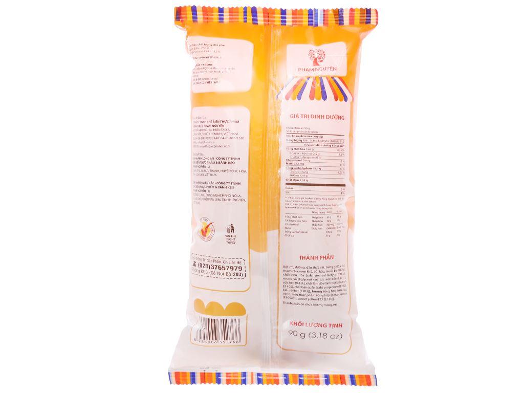 Bánh mì tươi nhân sữa hột gà Otto gói 90g 2