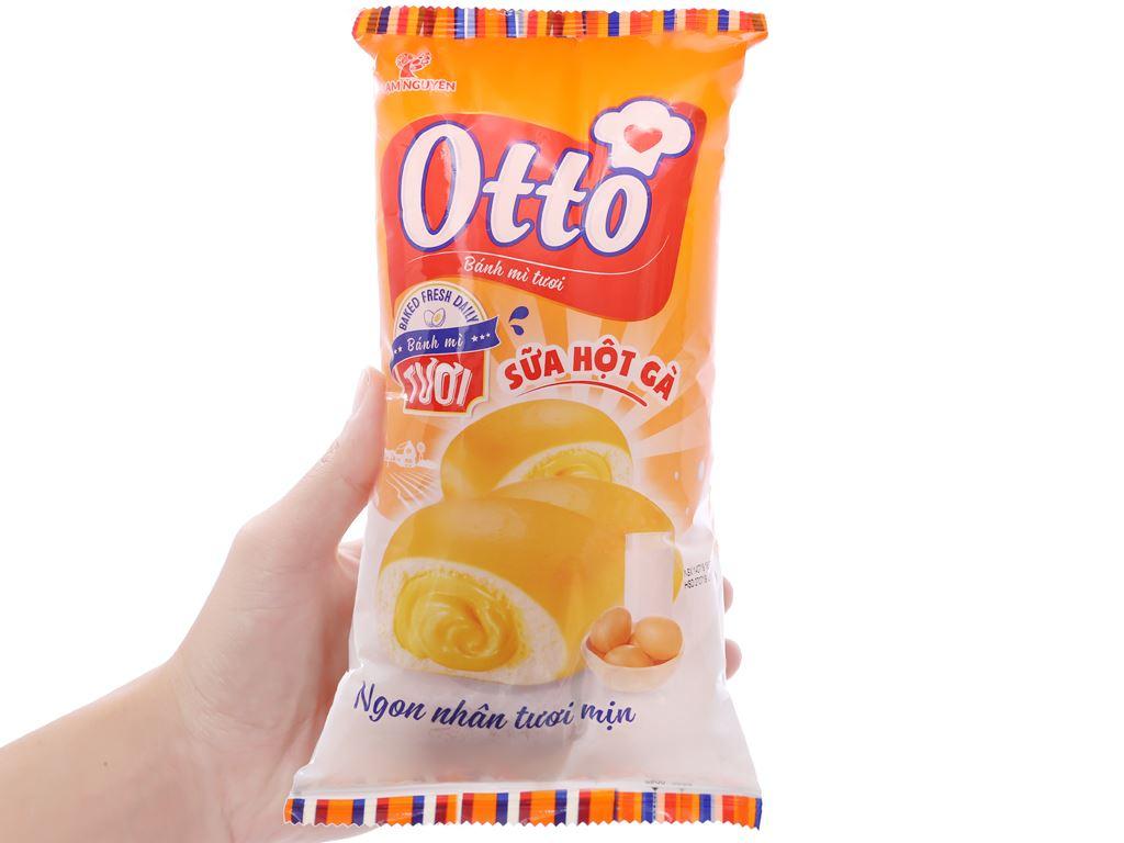 Bánh mì tươi nhân sữa hột gà Otto gói 90g 3
