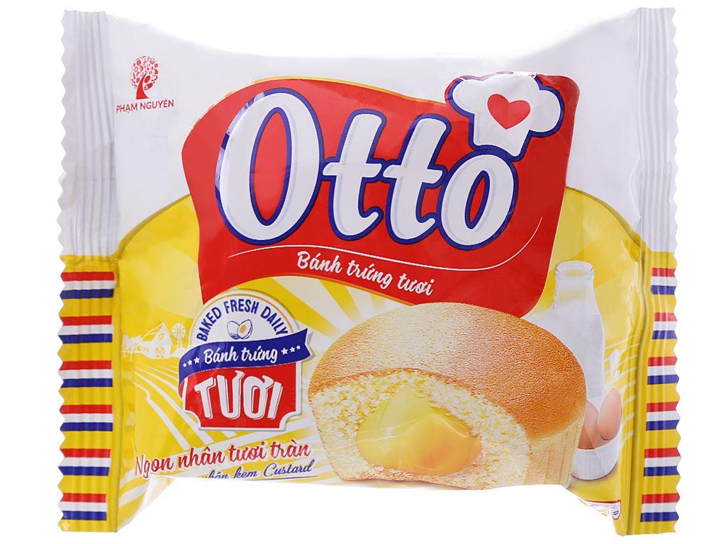 Bánh trứng tươi nhân kem custard Otto gói 38g 1