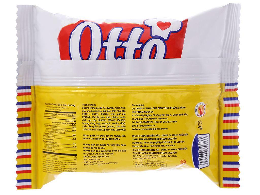 Bánh trứng tươi nhân kem custard Otto gói 38g 2