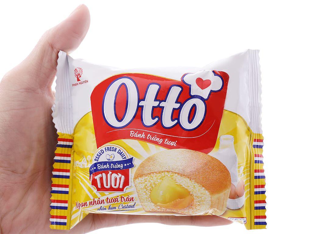 Bánh trứng tươi nhân kem custard Otto gói 38g 5