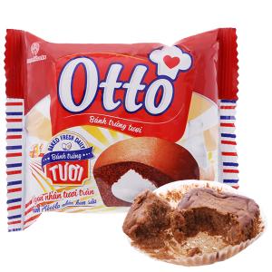 Bánh trứng tươi socola nhân kem sữa Otto gói 38g