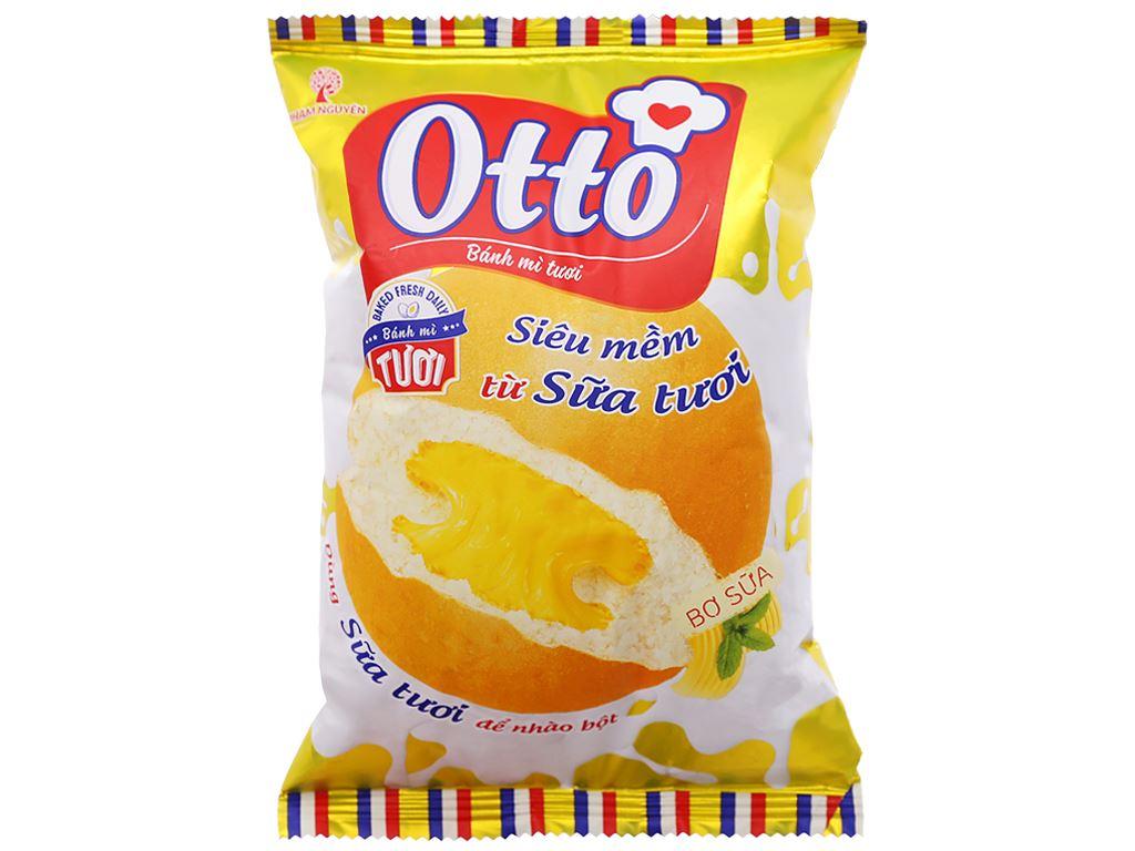 Bánh mì tươi nhân bơ sữa Otto gói 55g 1