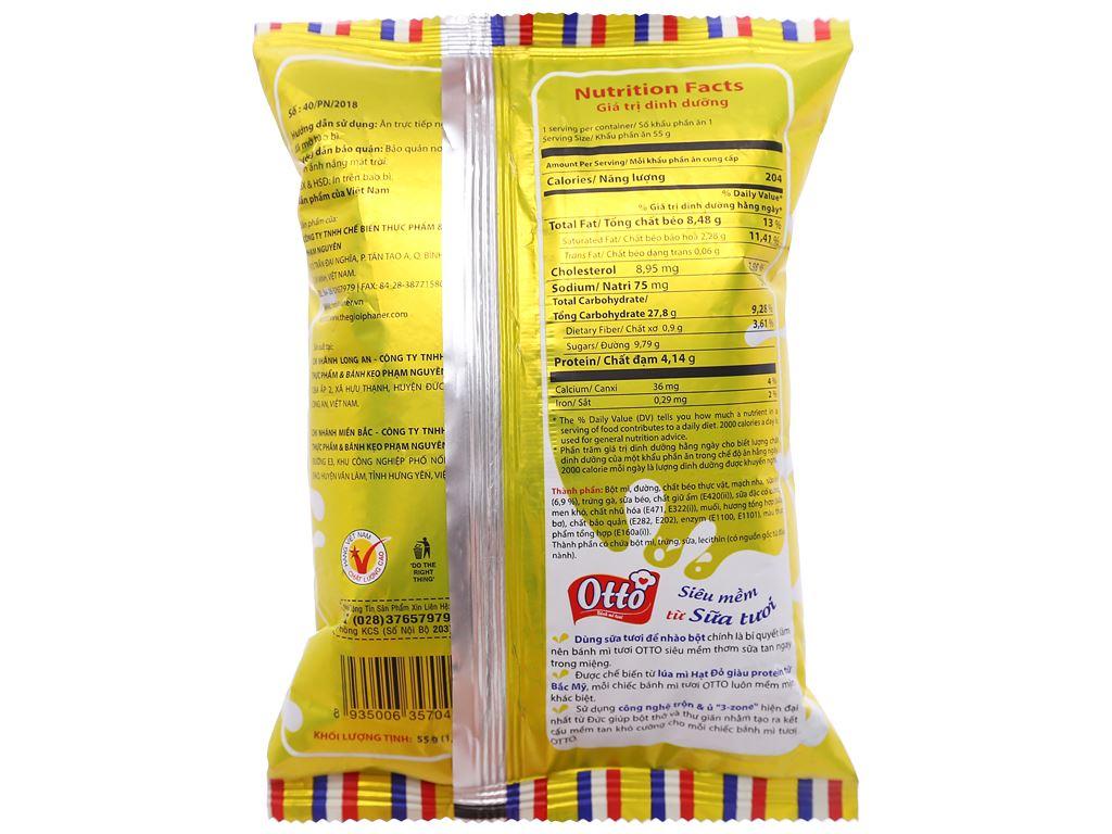 Bánh mì tươi nhân bơ sữa Otto gói 55g 2