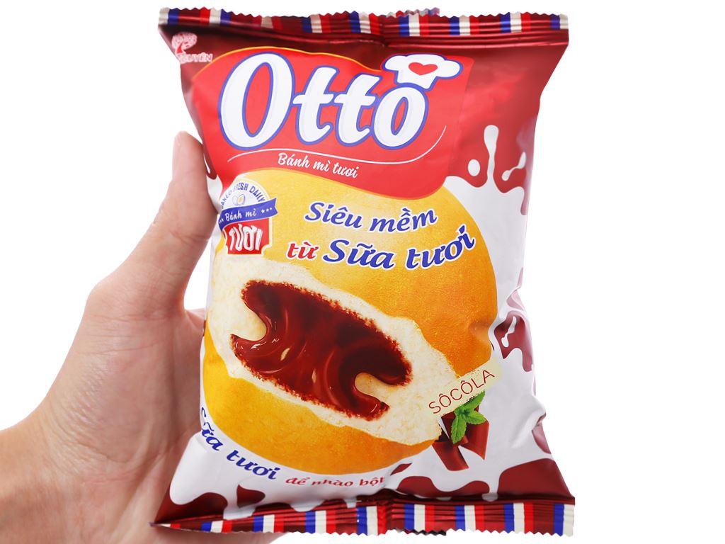 Bánh mì tươi nhân kem socola Otto gói 55g 3