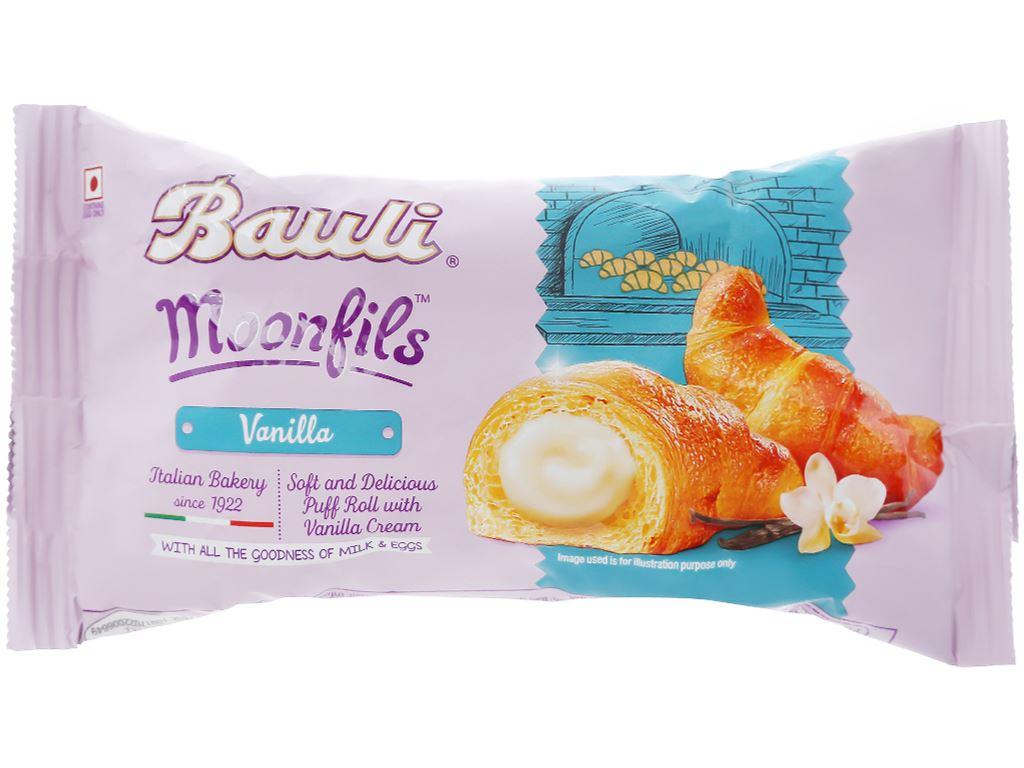 Bánh croissant nhân kem vani Moonfils Bauli gói 47g 1