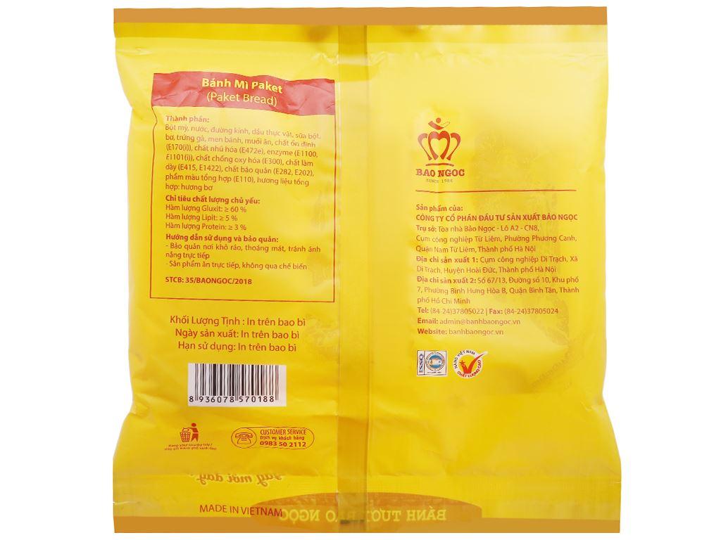 Bánh mì paket Bảo Ngọc gói 108g (3 cái) 3