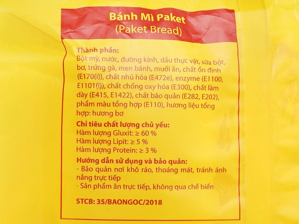 Bánh mì paket Bảo Ngọc gói 108g (3 cái) 4