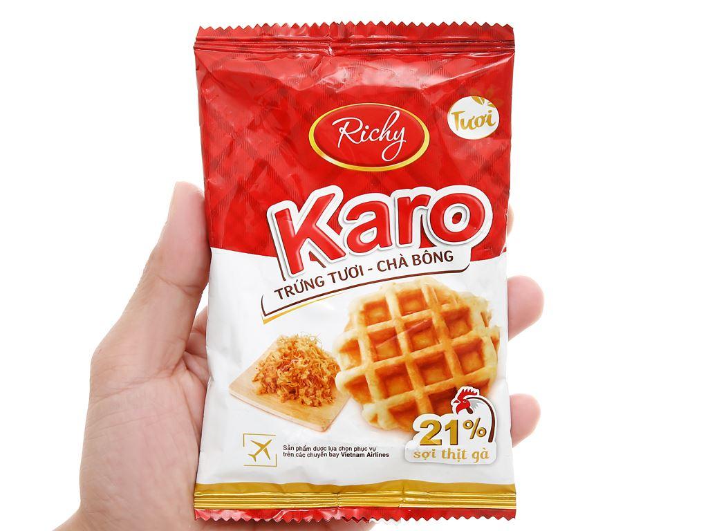 Bánh trứng tươi - chà bông Karo Richy gói 26g 5