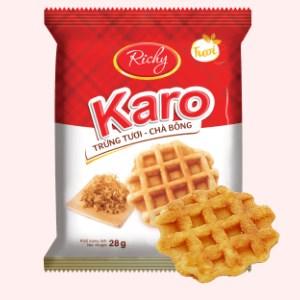 Bánh trứng tươi - chà bông Karo Richy gói 26g