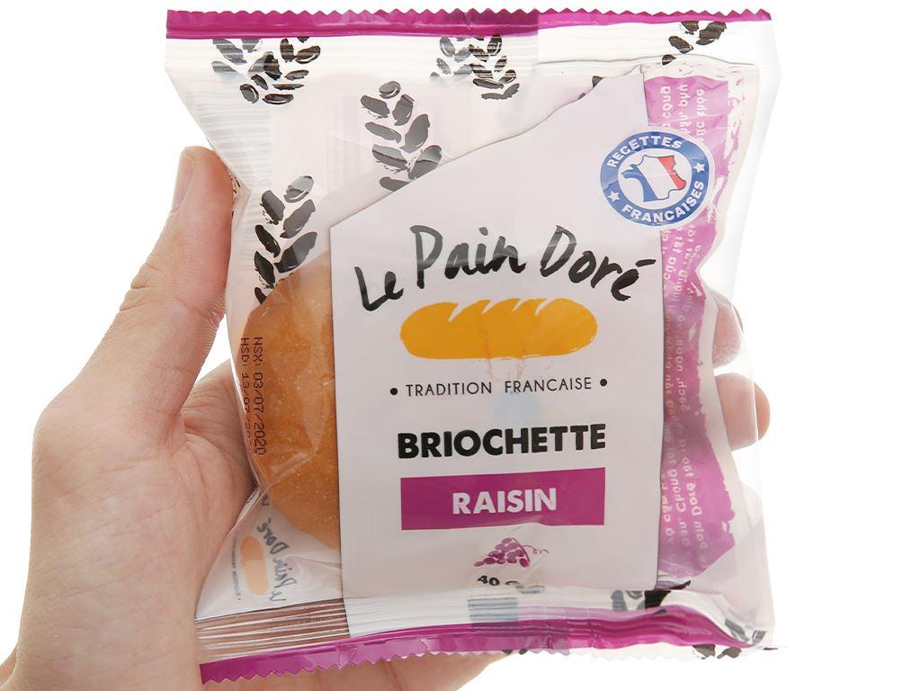 Bánh mì briochette raisin Le Pain Dore gói 40g 4