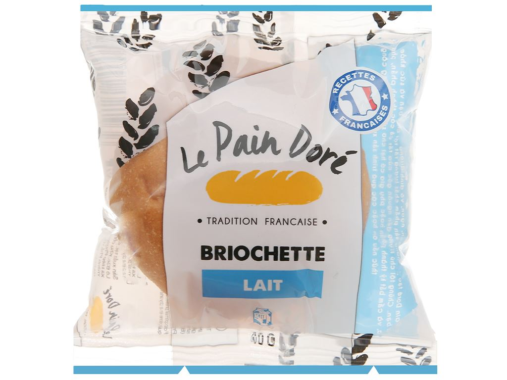 Bánh mì briochette lait Le Pain Dore gói 40g 1