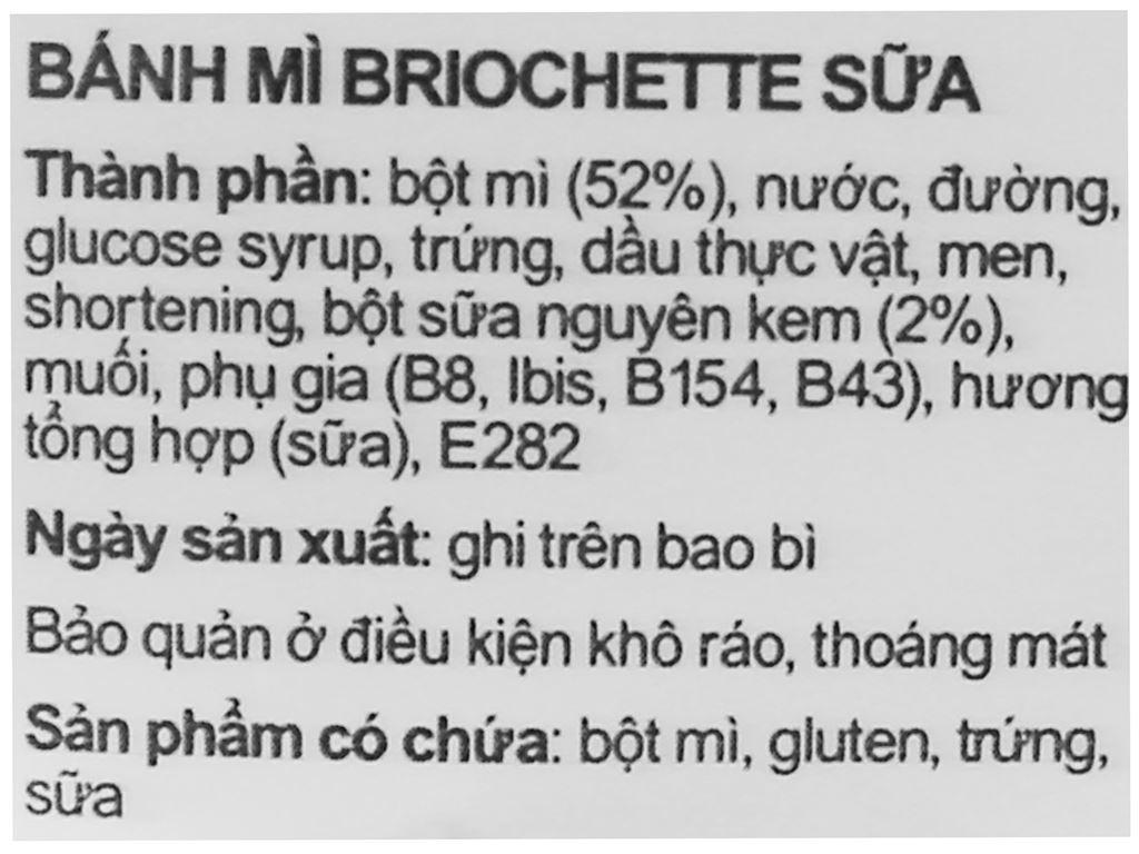 Bánh mì briochette lait Le Pain Dore gói 40g 3