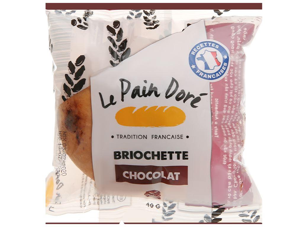 Bánh mì briochette chocolate Le Pain Dore gói 40g 1