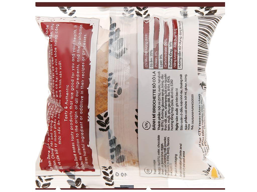 Bánh mì briochette chocolate Le Pain Dore gói 40g 2