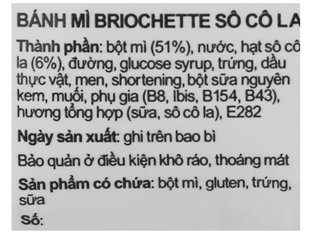 Bánh mì briochette chocolate Le Pain Dore gói 40g 3