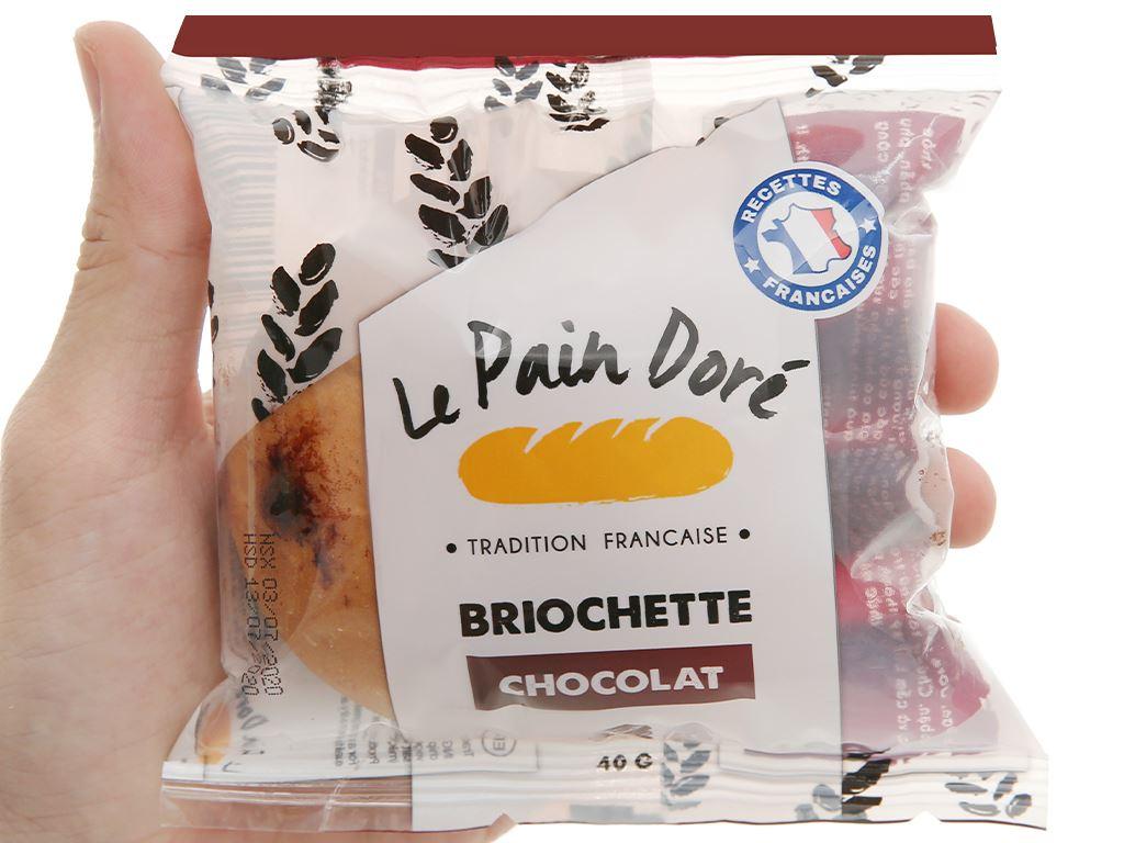 Bánh mì briochette chocolate Le Pain Dore gói 40g 4