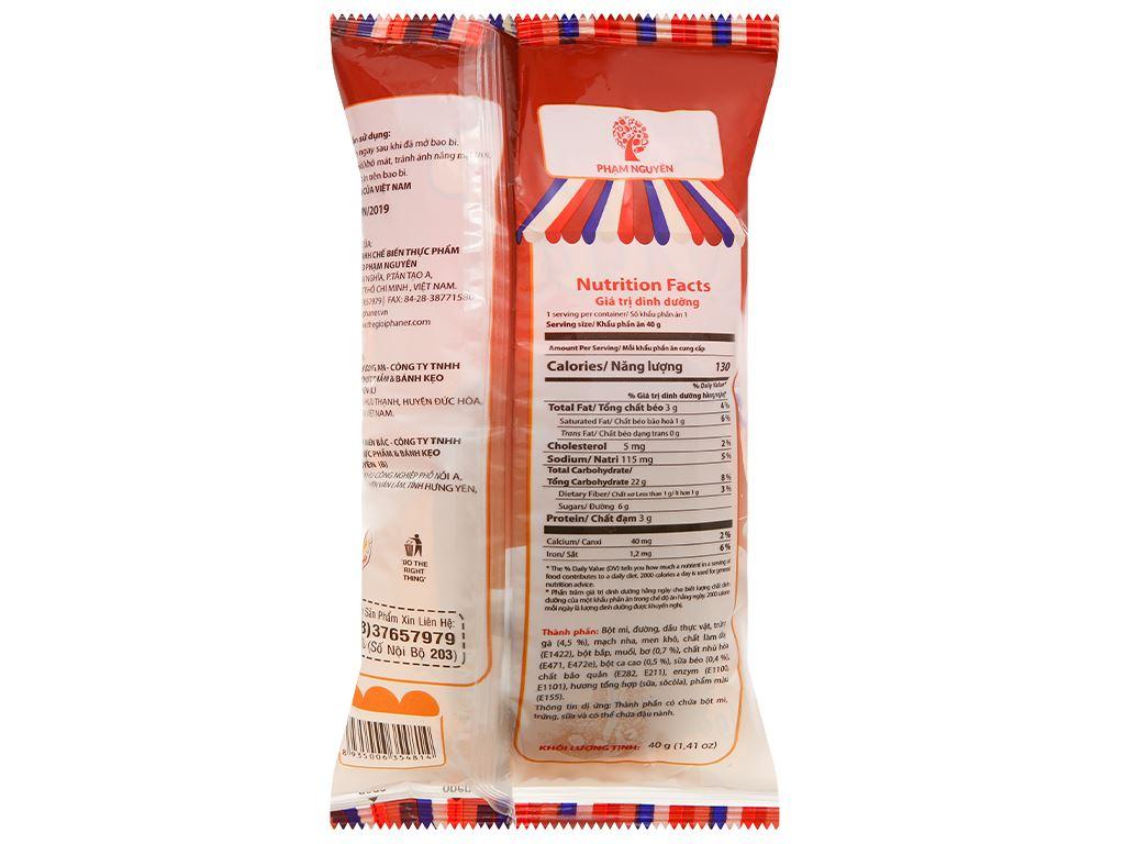 Bánh mì tươi nhân socola Otto gói 40g 2