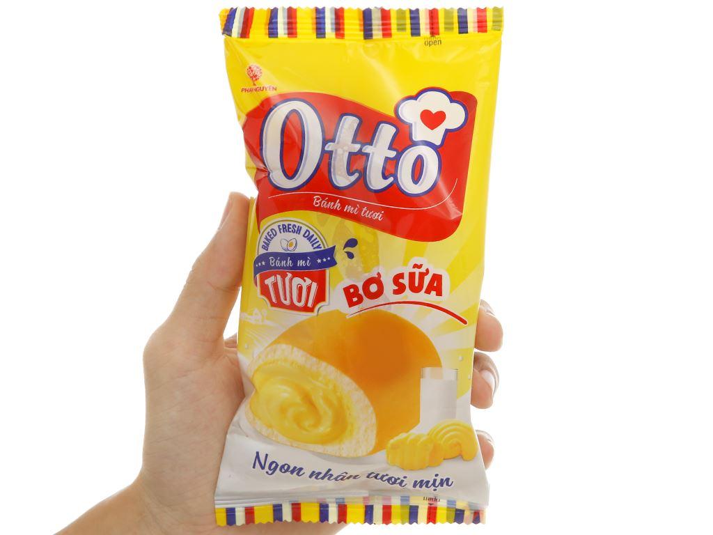 Bánh mì tươi nhân bơ sữa Otto gói 40g 3
