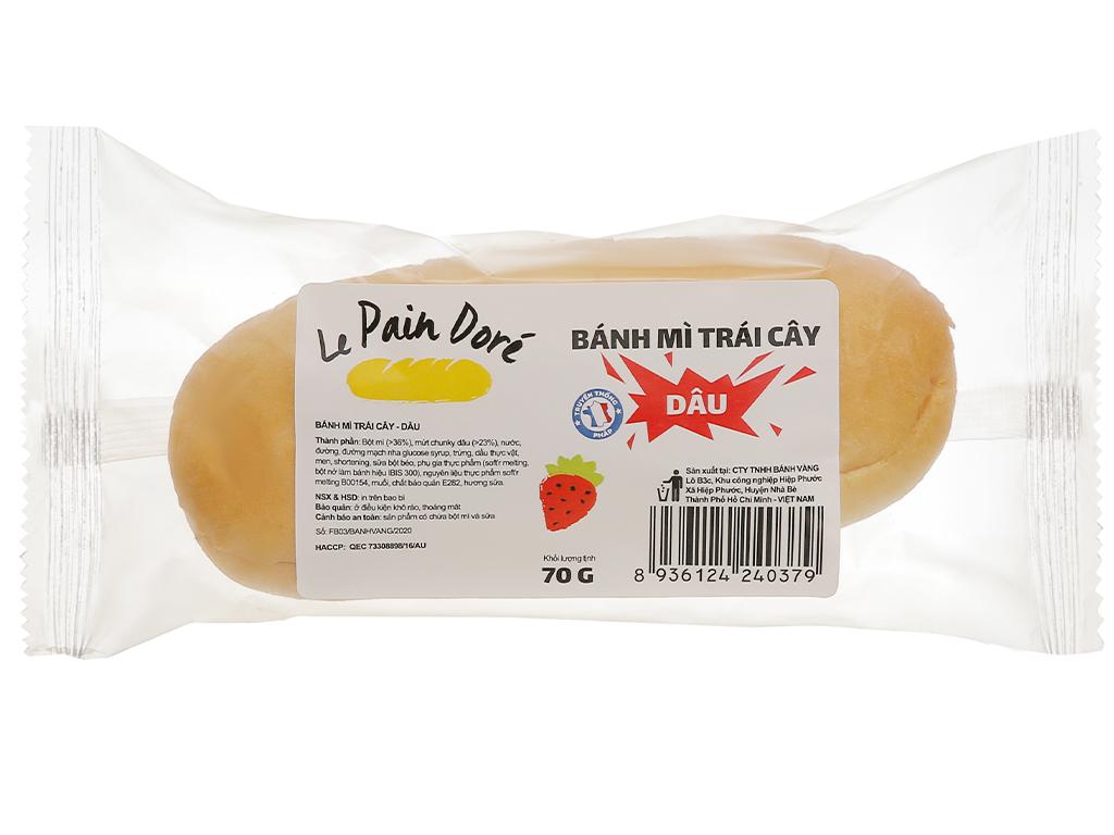 Bánh mì trái cây vị dâu Le Pain Dore gói 70g 1