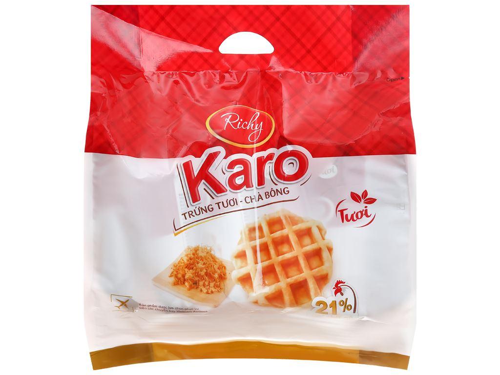Bánh trứng tươi chà bông Karo Richy túi 156g (26g x 6 gói) 1