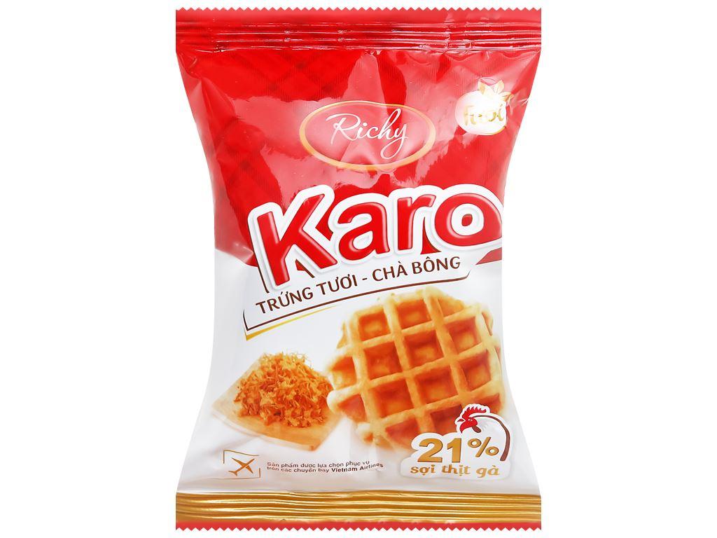 Bánh trứng tươi chà bông Karo Richy túi 156g (26g x 6 gói) 3