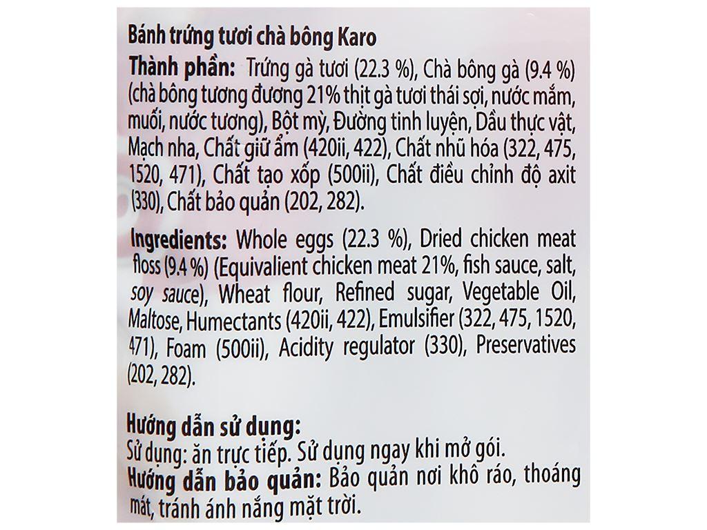 Bánh trứng tươi chà bông Karo Richy túi 156g (26g x 6 gói) 7